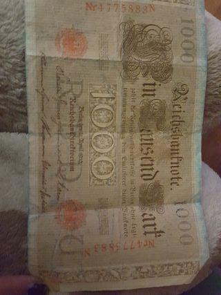 billetes antiguos alemanes