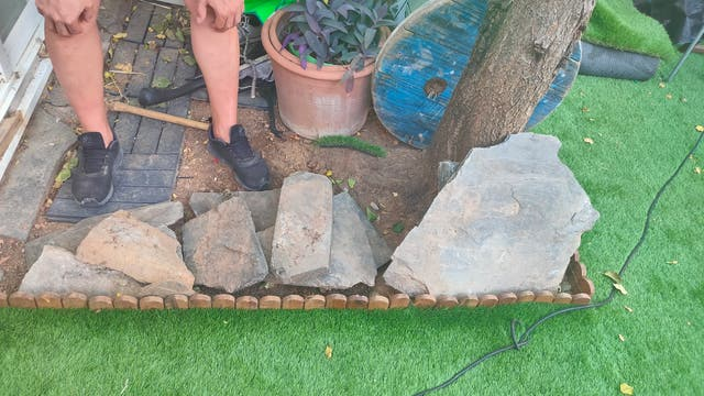 Piedra pizarra jardín