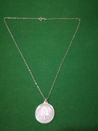 Medalla de la Virgen del Pino, Plata. Peso : 7,6 g