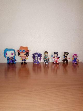 Figuras League of legends y One Piece