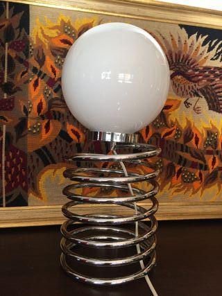 Lampara vintage espiral diseño 1970 space age