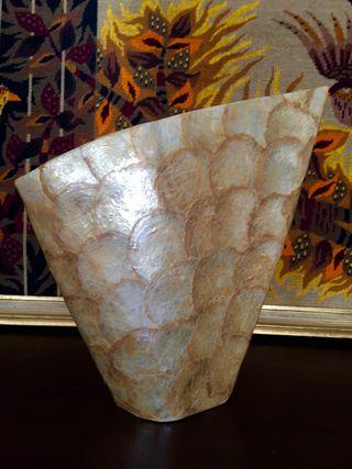 Vaso vintage 1970 nacar resina