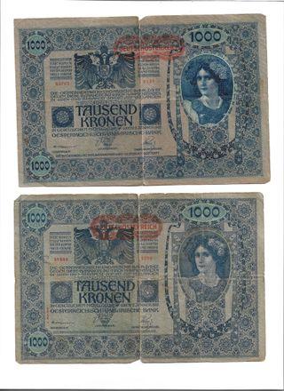 1000 coronas Imperio Austro - Húngaro 1902