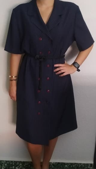 vestido Sra t56 raya diplomática azul marino