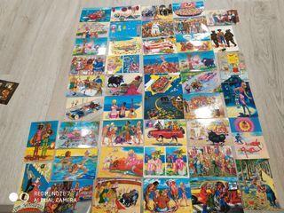 coleccion de 45 postales años 60 y 70/