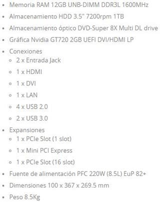 PC Sobremesa (PACK PC+Monitor+Teclado+Ratón)