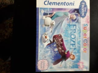 2 cajas puzzles Frozen y animales