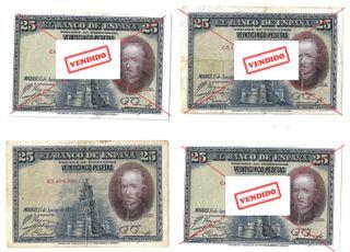 Billete de 25 pesetas de 1928 Calderón de la Barca