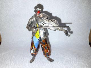 Figura de plata y cristal de murano n° 5