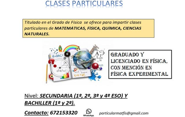 clases particulares matemáticas física y química