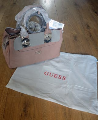 Authentic pastel pink guess handbag new with tags