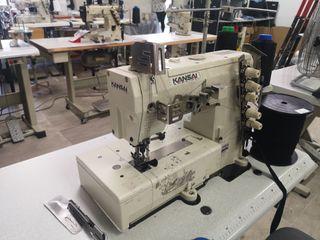 máquina recubridora de coser Kansai 3 agujas