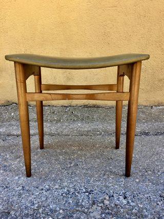 Taburete diseño escandinavo vintage 1960