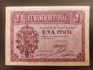 billete 1 peseta 1937 serie D