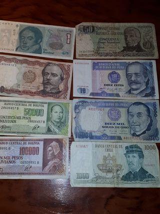 billetes de sudamerica