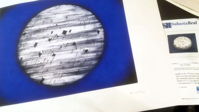 Litografía Juan Genovés Observatorio-Firmado y Fec