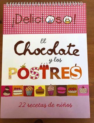 El chocolate y los postres Libro de recetas niños
