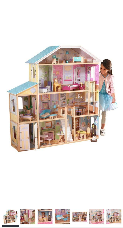 casa de madera de muñecas