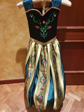 disfraz Anna Disney store talla 5-6