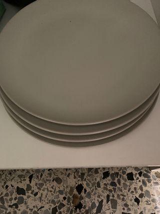 Krasilnikoff torta plato rayas gris oscuro plato gris a rayas de porcelana