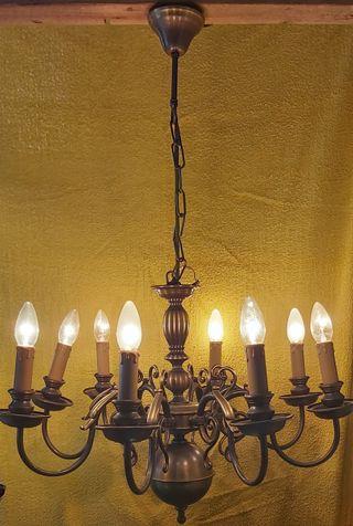 Lámpara de araña 8 brazos