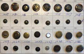 Colección de 19 botones para vaquero