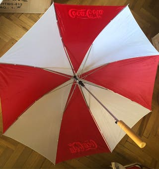 Paraguas de Coca Cola automatica
