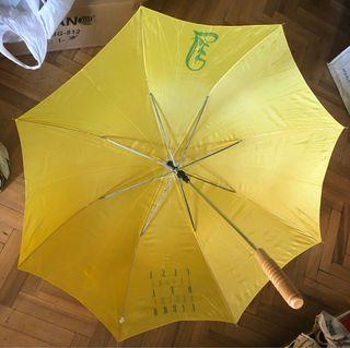 Paraguas automático amarillo