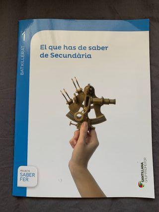 Llibres 1r batxillerat cientific-tecnologic