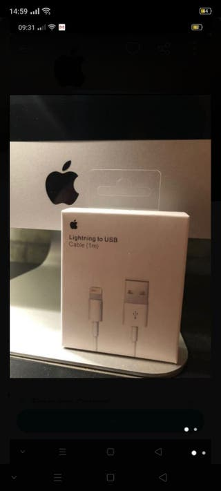 CABLE LIGHTNING A USB (1 METRO) CABLE IPHONE.