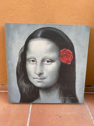 Cuadro Mona Lisa 40x40 cm