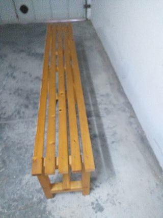 banco madera para gimnasio o otros usos