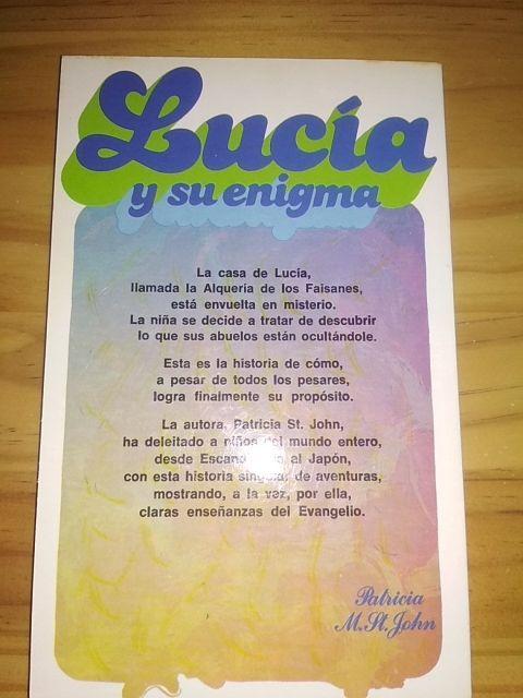 Lucía y su enigma, Patricia M. St. John
