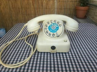 antiguo telefono baquelita vintage aleman