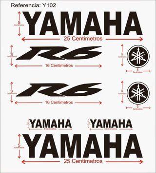 Pegatinas Yamaha R6 2015