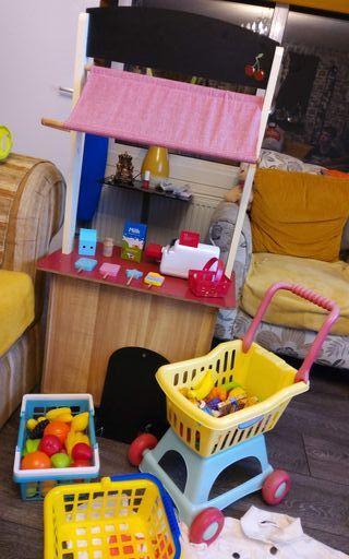 kids wooden toy shop