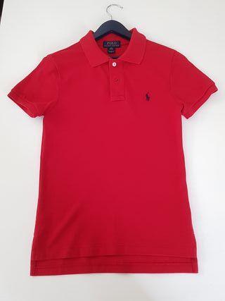Polo Ralph Lauren rojo niño, precio original: 67€