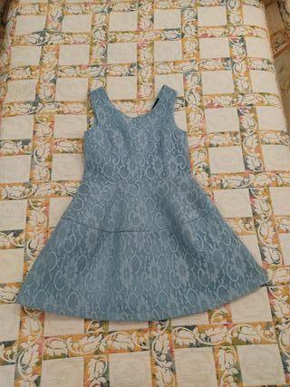 Vestido azul pastel fiesta/eventos M