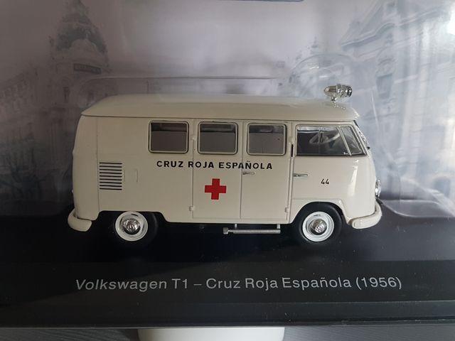 ★ VOLKSWAGEN T1 1956 CRUZ ROJA AMBULANCIA VEHÍCULOS SERVICIO 1//43 SALVAT IXO