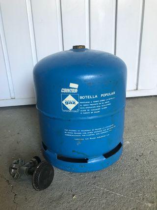 Bombona de camping gas con hornillo