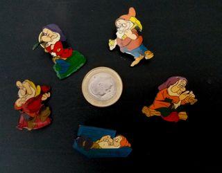 Lote 5 pins enanitos de Blancanieves Walt Disney