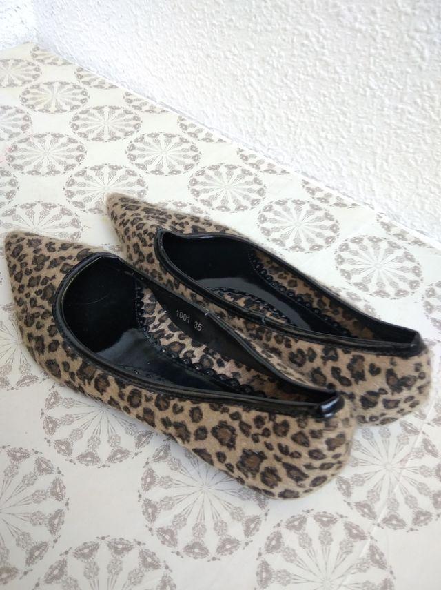 botines marrones y manoletinas leopardo