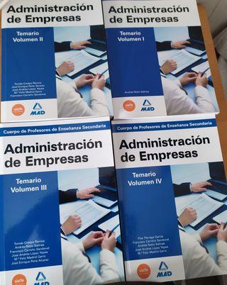 Libros Oposición Profesorado Administración