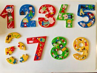 Puzzle Números Madera Imaginarium