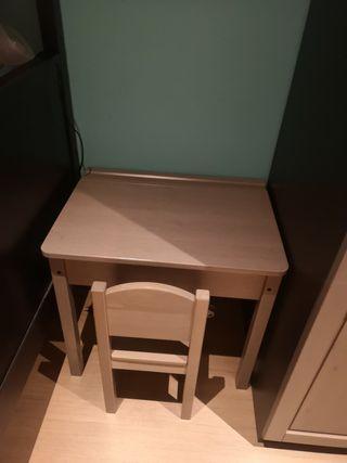 Pupitre/ mesa y silla SUNDVIK IKEA GRIS