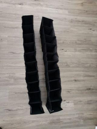 Pack 2 organizadores de zapatos para colgar