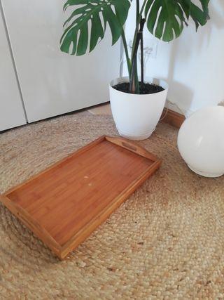 Mesa auxiliar plegable de madera