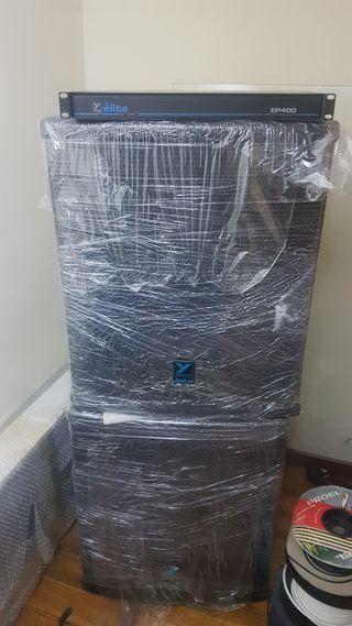 Altavoces Élite 404- 500 watts RMS y procesador