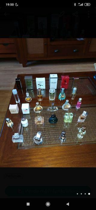 miniaturas de fragancias