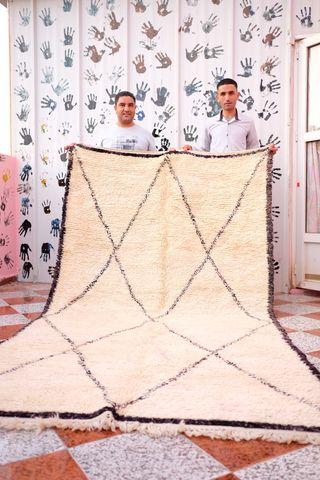 Beni Ouarain rug , Moroccan vintage rug , WoOl